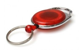 Premier Red Retractable Card Reel with Key Ring | Pack 5