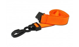 15mm Deluxe Lanyard Orange | Pack 10
