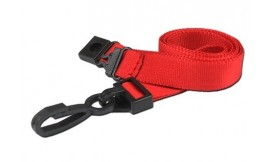 15mm Deluxe Lanyard Red | Pack 10