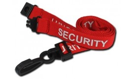 Red Security Lanyard | Pack 10