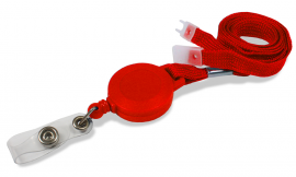 Retractable Lanyard 10mm Red | Pack 10