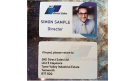 DOUBLE SIDED PLASTIC ID CARD - Pack 10