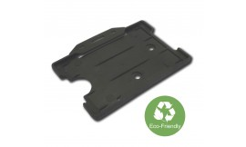 Eco-Friendly Single open Rigid L/S Card Holder Black (Pack 25)