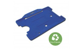 Eco-Friendly Single open Rigid L/S Card Holder Royal Blue (Pack 25)