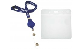 Retractable Staff Lanyard Blue | Pack 10 *Free Wallet*