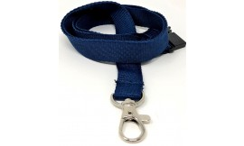 15mm Dark Blue Deluxe Lanyard | Pack 10