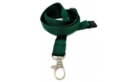 15mm Green Deluxe Lanyard | Pack 10