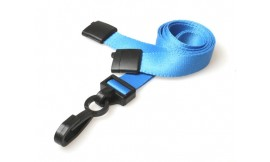 15mm Deluxe Lanyard Light Blue | Pack 100