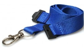 20MM BLUE DELUXE LANYARDS | PACK 10