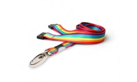15mm Rainbow Lanyard | Pack 10