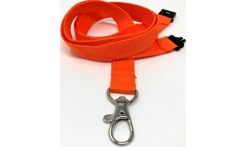 15mm Orange Deluxe Lanyard | Pack 10