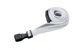 10mm Premium White Lanyard | Pack 100