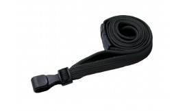 10mm Premium Black Lanyard | Pack 100