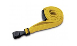 10mm Premium Yellow Lanyard | Pack 100