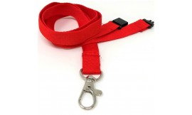 15mm Red Deluxe Lanyard | Pack 10