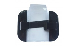 HI-VIS ARMBAND CARD HOLDER BLACK (PACK 10)