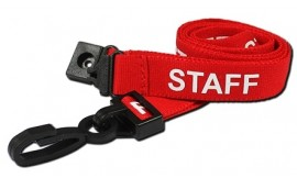 Red Staff Lanyard | Pack 10
