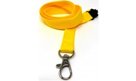 15mm Yellow Deluxe Lanyard  | Pack 10